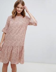 Платье с заниженной талией и принтом Ichi - Мульти