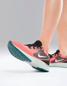 Ярко-розовые кроссовки Nike Running Rebel React - Розовый