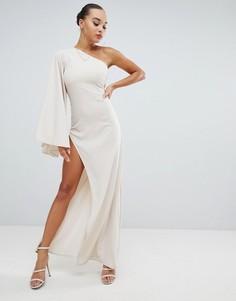 Платье макси на одно плечо Missguided - Розовый