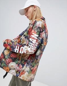Складывающаяся спортивная куртка с цветочным принтом и логотипом Herschel x Hoffman voyage - Мульти