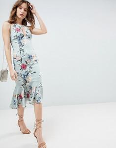 Платье с принтом и баской Hope & Ivy - Мульти