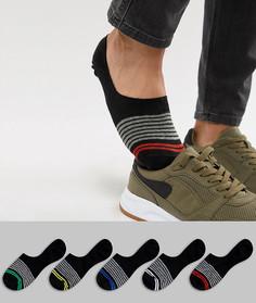 Набор из 5 пар невидимых носков ASOS DESIGN - Черный