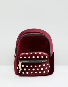 Красный рюкзак с искусственным жемчугом Yoki Fashion - Красный