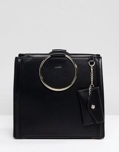 Сумка-тоут с круглой пряжкой ALDO - Черный