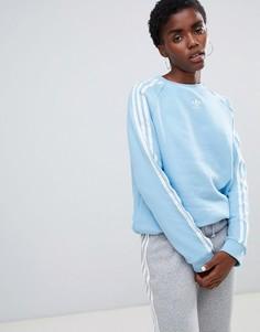 Синий свитшот с тремя полосками adidas Originals - Синий