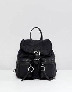 Маленький нейлоновый рюкзак с кольцом ALDO - Черный