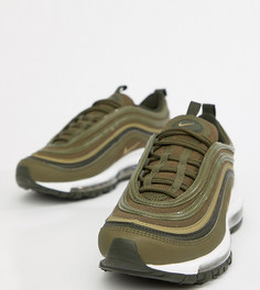Кроссовки цвета хаки Nike Air Max 97 - Зеленый