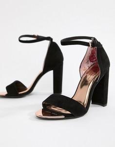 Черные замшевые босоножки на блочном каблуке Ted Baker - Черный