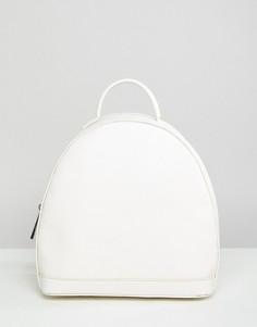 Белый рюкзак с молнией Street Level - Белый