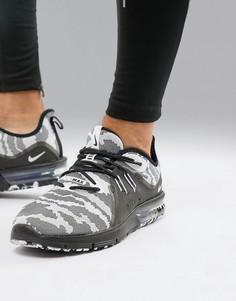Черные камуфляжные кроссовки Nike Running Air Max sequent 3 ar0251-001 - Черный