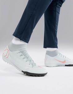 Серые футбольные бутсы Nike Football SuperflyX 6 Academy Astro Turf AH7370-060 - Серый