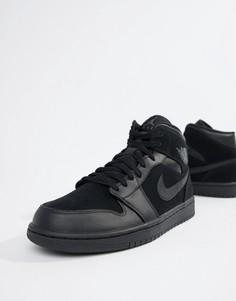 Черные кроссовки средней высоты Nike Air Jordan 1 554724-050 - Черный