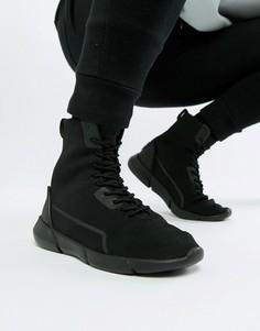 Черные высокие кроссовки с сеткой ASOS DESIGN - Черный