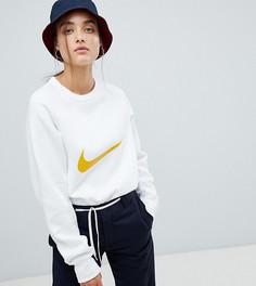 Белый свитшот с логотипом-галочкой Nike - Белый