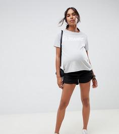 Черные шорты со сборками по бокам ASOS DESIGN Maternity - Черный