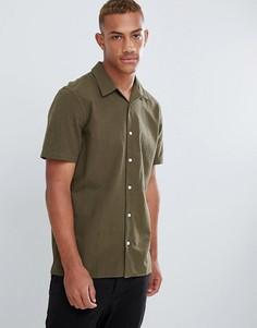 Повседневная рубашка цвета хаки с короткими рукавами PS Paul Smith - Зеленый