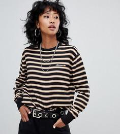 Джемпер в полоску с вышитым логотипом на груди Ellesse - Черный