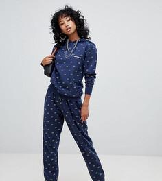 Спортивные штаны со сплошным принтом Ellesse - Темно-синий