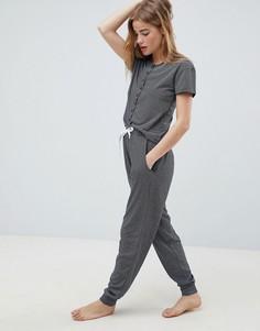Пижамный комплект в полоску Chelsea Peers - Темно-синий