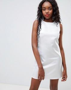 Свободное платье с эффектом металлик Glamorous - Серебряный