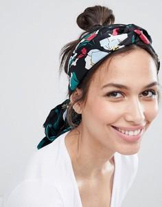 Платок на голову с цветочным принтом ASOS DESIGN - Мульти