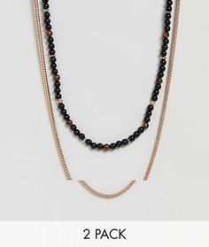2 ожерелья ALDO - Черный