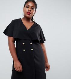 Свободное платье мини с пуговицами ASOS DESIGN Curve - Черный