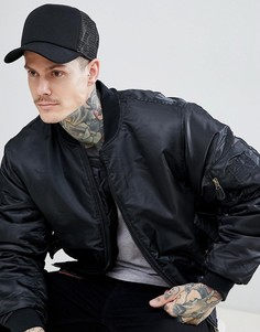 Черная кепка с сетчатой отделкой Esprit - Черный