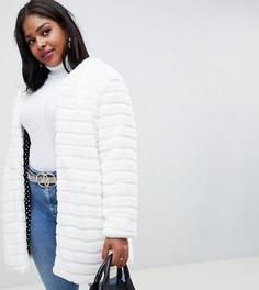 Пальто с искусственным мехом Glamorous Curve - Белый