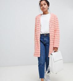 Шуба из искусственного меха со вставками Glamorous Petite - Розовый