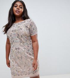 Платье мини с декоративной отделкой Lovedrobe Lux - Розовый