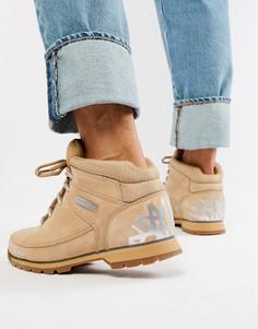 Бежевые походные ботинки со светоотражающей отделкой Timberland Euro Sprint - Бежевый