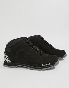 Черные походные ботинки Timberland Euro - Черный
