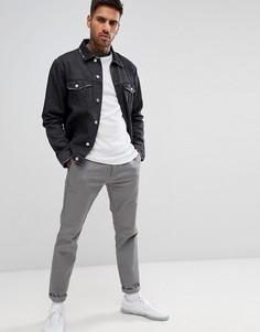Черная джинсовая куртка boohooMAN - Черный