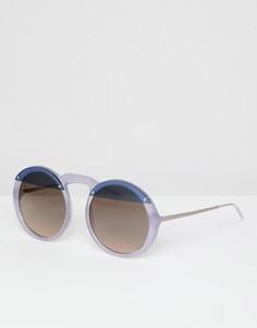 Круглые солнцезащитные очки Emporio Armani - Фиолетовый