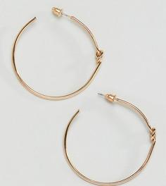 Серьги-кольца с декоративными узлами Reclaimed Vintage Inspired - Золотой