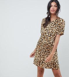 Свободное oversize-платье со звериным принтом Vero Moda tall - Мульти