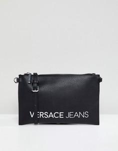 Сумка через плечо с контрастным логотипом Versace Jeans - Черный
