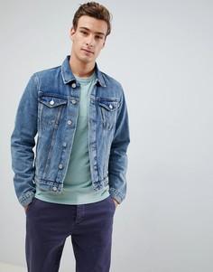 Синяя джинсовая куртка Selected - Синий