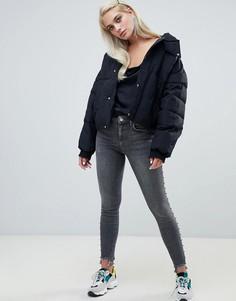 Черные выбеленные джинсы скинни River Island Amelie - Черный