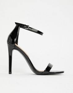 Босоножки на каблуке в минималистском стиле Aldo - Черный