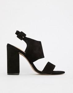 Кожаные босоножки на блочном каблуке Aldo - Черный