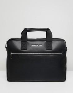Сумка для ноутбука Calvin Klein Jeans Smooth Essential - Черный