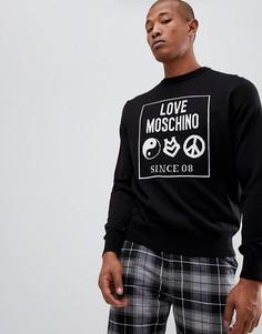 Черный джемпер с логотипом Love Moschino - Черный