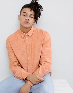 Оранжевая рубашка из ткани шамбре Weekday - Оранжевый