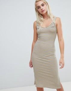 Платье миди в полоску с ремешками River Island - Мульти