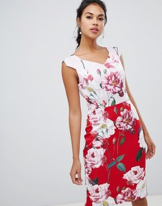 Двухцветное платье-футляр Ted Baker Saafi Iguza - Мульти