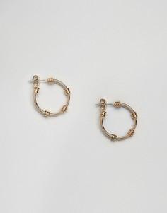 Маленькие серьги-кольца Pieces - Золотой