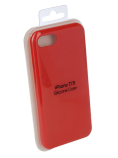 Аксессуар Чехол Innovation Silicone Case для APPLE iPhone 7/8 Red 10288