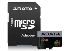 Карта памяти 32Gb - A-Data Premier - Micro Secure Digital HC Class 10 UHS-I U3 AUSDH32GUI3V30G-RA1